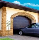 ворота секционные гаражные alutech