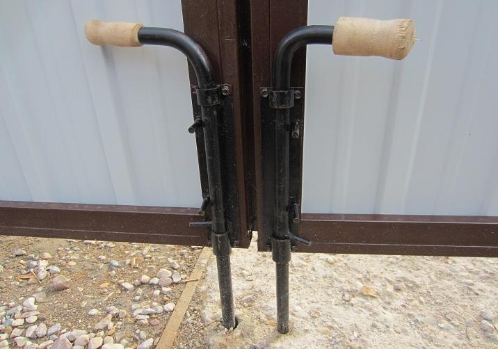 Как сделать засовы на воротах
