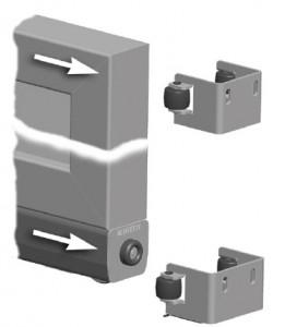 Верхний и нижний уловитель для ворот откатного типа