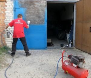 правила покраски гаражных ворот